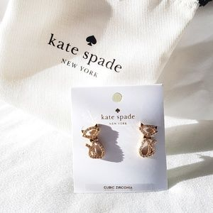 NWT Kate Spade Kitty Cat Studds Earrings